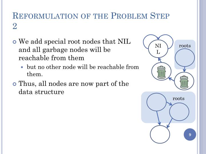 Reformulation of the Problem Step