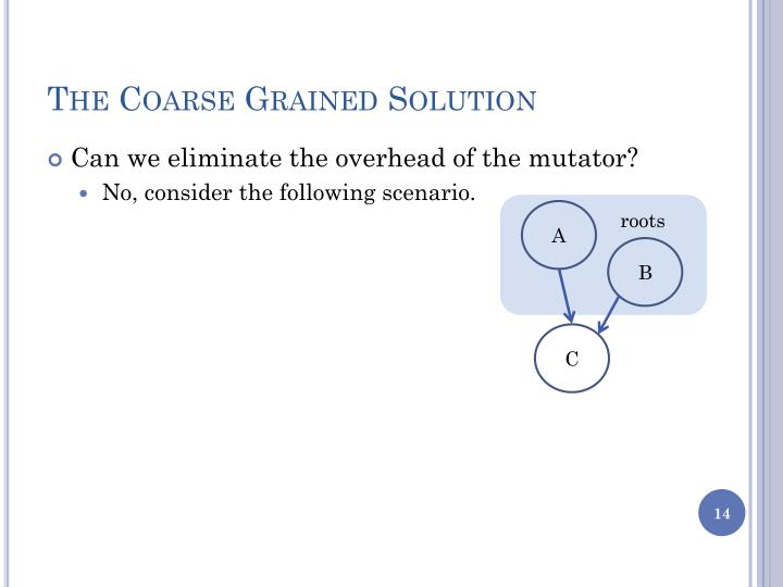 The Coarse Grained Solution