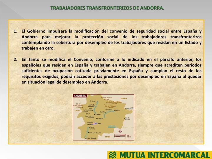 TRABAJADORES TRANSFRONTERIZOS DE ANDORRA.