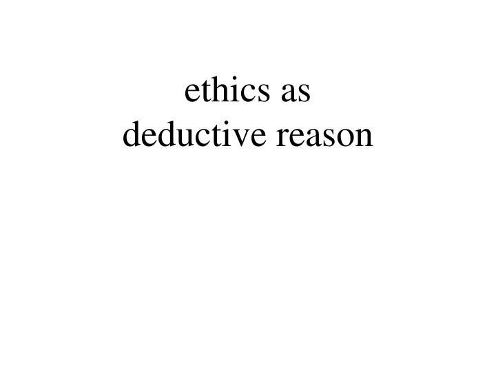 ethics as