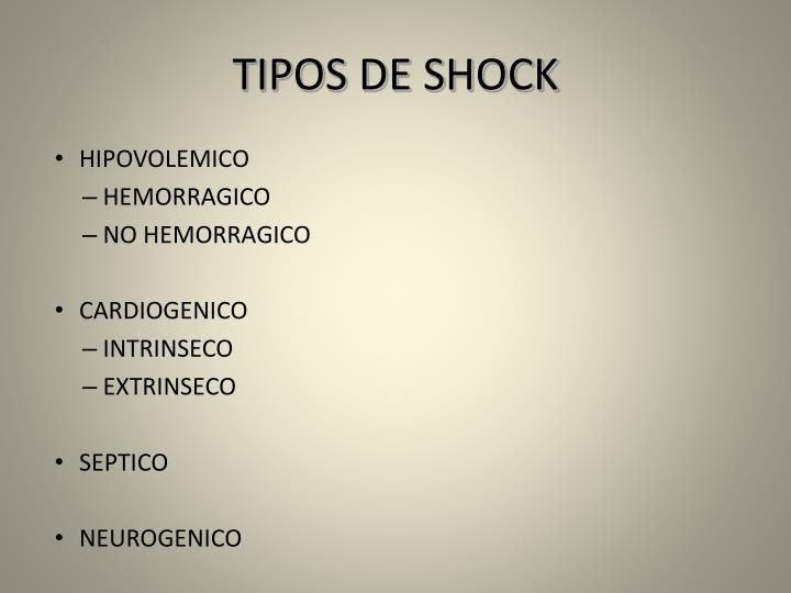 TIPOS DE SHOCK