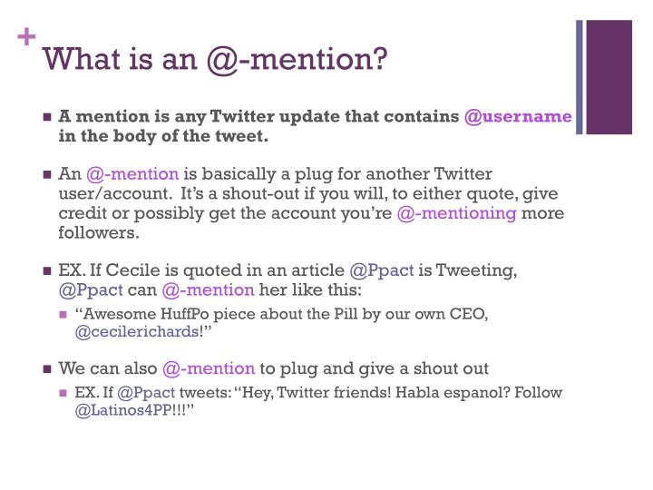 What is an @-mention?