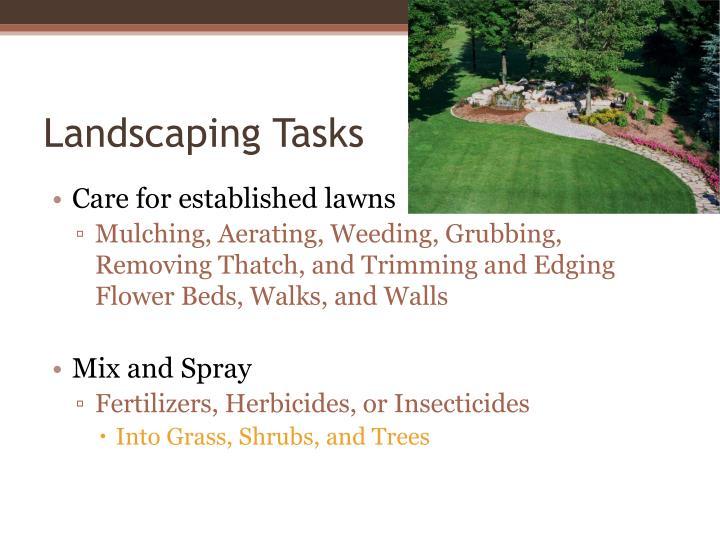 Landscaping Tasks