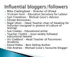 influential bloggers followers