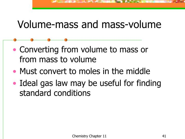 how to find mass from moles and volume
