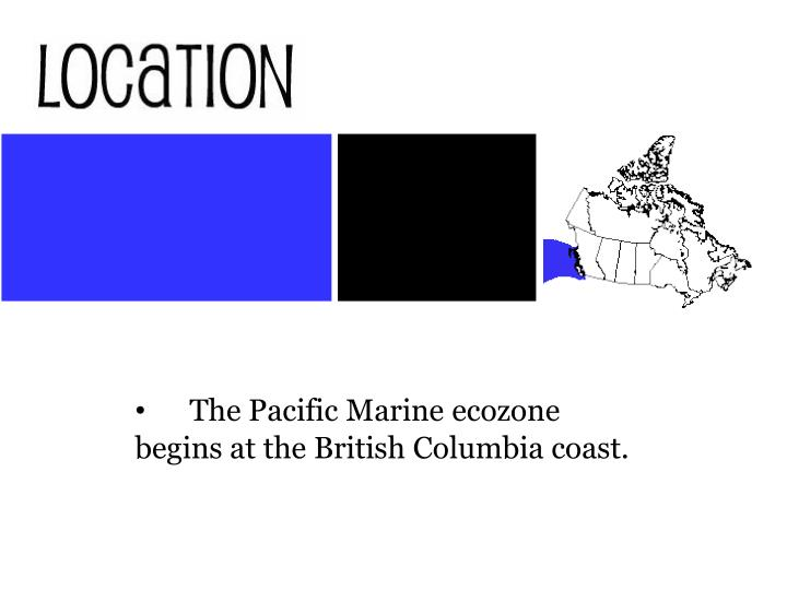 The Pacific Marine ecozone