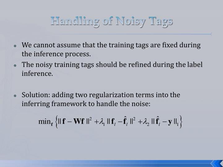 Handling of Noisy Tags