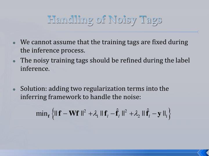 Handling of Noisy Tags