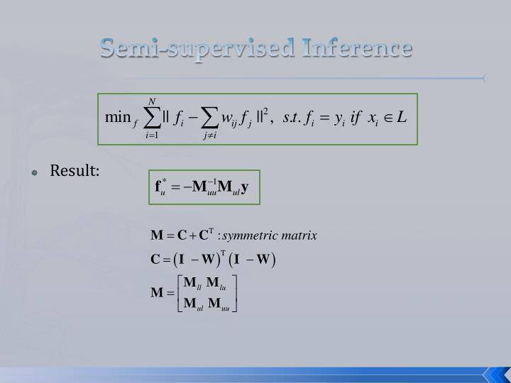 Semi-supervised Inference