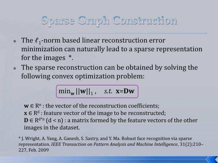 Sparse Graph Construction