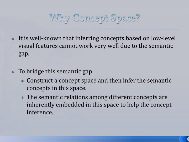 Why Concept Space?