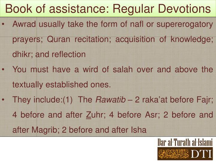 Book of assistance: Regular Devotions