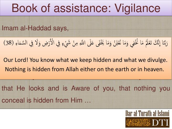 Book of assistance: