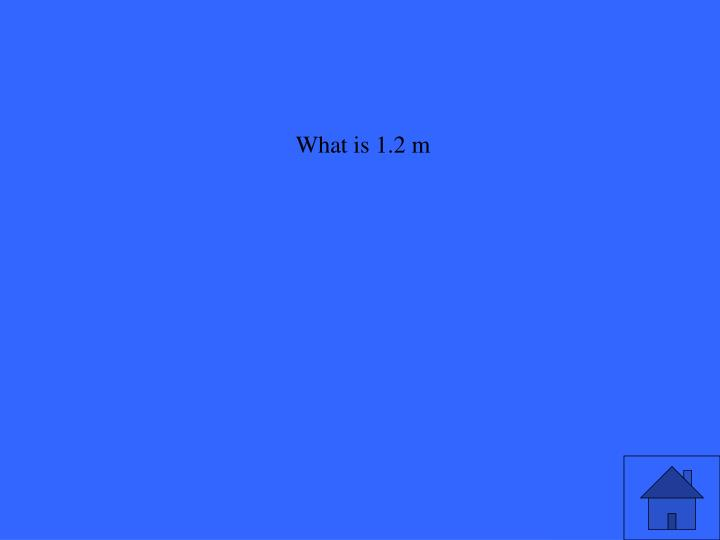 What is 1.2 m