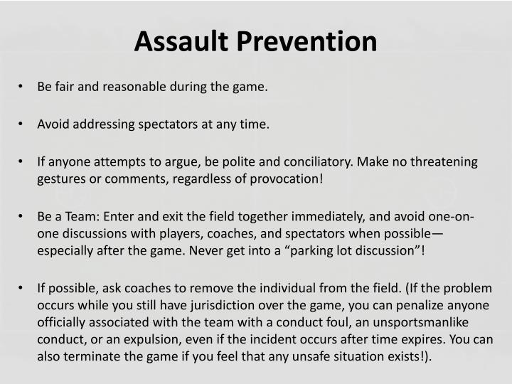 Assault Prevention