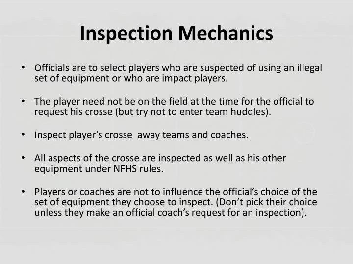 Inspection Mechanics