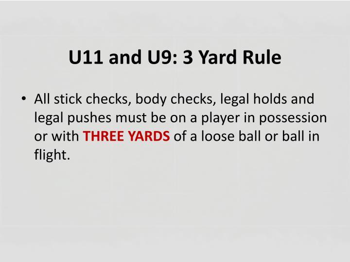 U11 and U9: 3