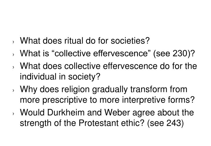What does ritual do for societies?