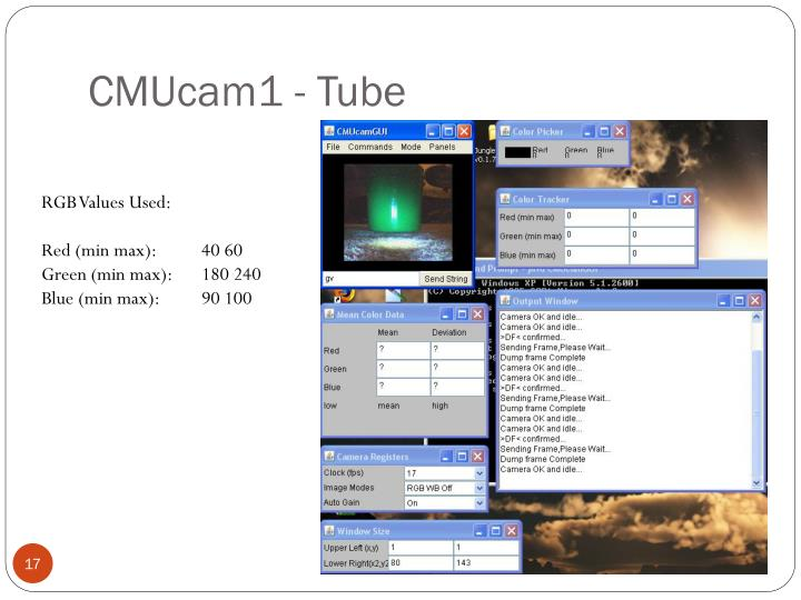 CMUcam1 - Tube