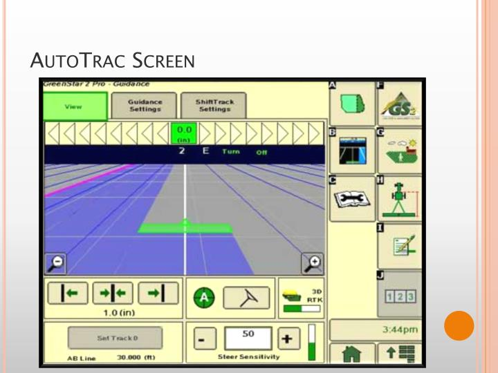 AutoTrac Screen