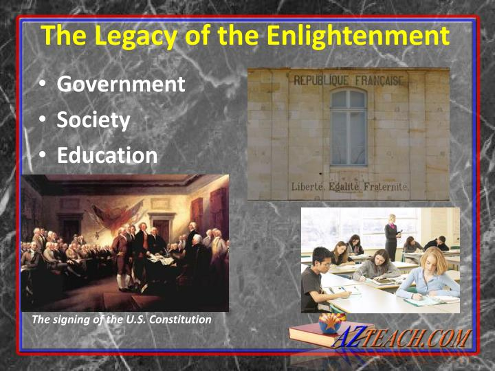effects of the enlightenment on the What are 5 ways enlightenment ideas have influenced the rights of citizens in the modern world thanks for help.