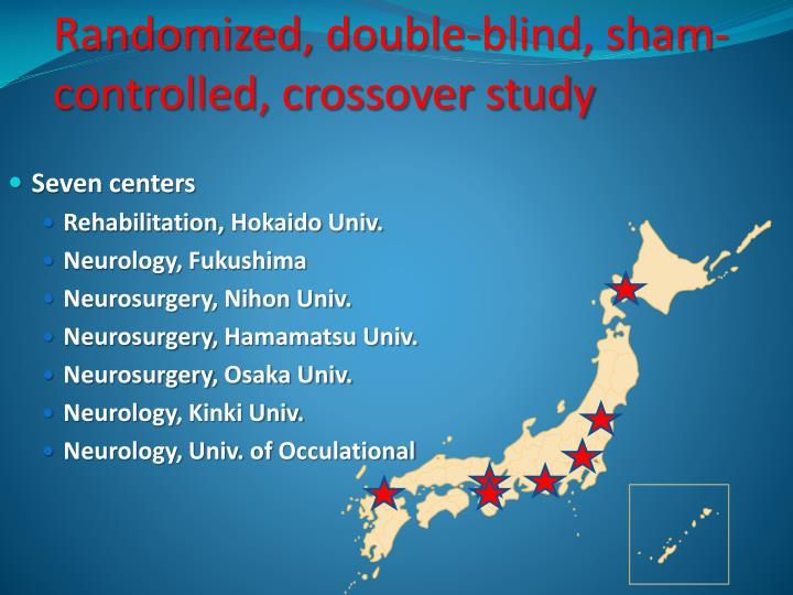 Randomized, double-blind, sham-controlled, crossover study