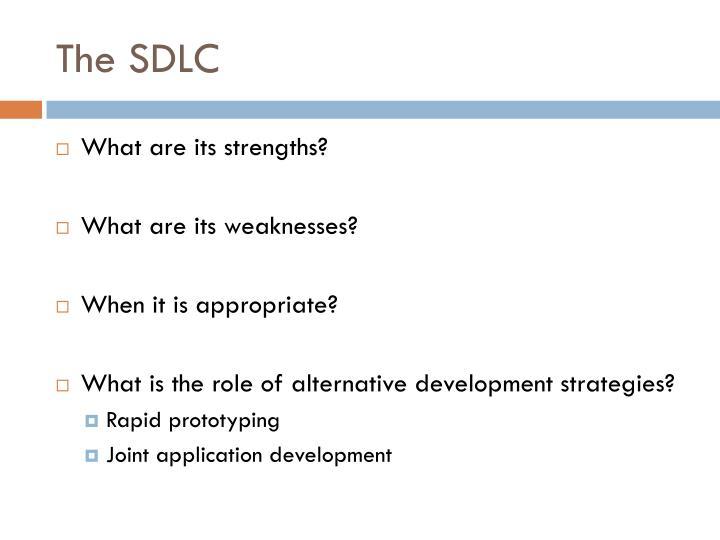The SDLC