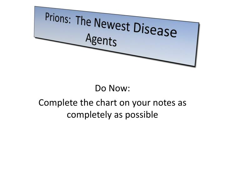 Prions the newest disease agents