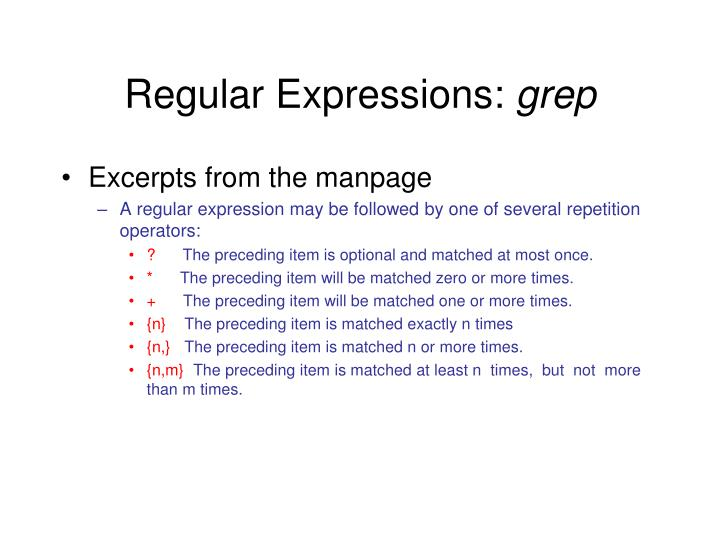Regular Expressions: