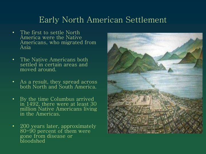 Early North American Settlement