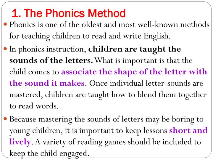1. The Phonics Method