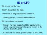 ie or lf
