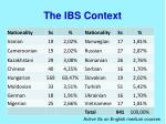 the ibs context