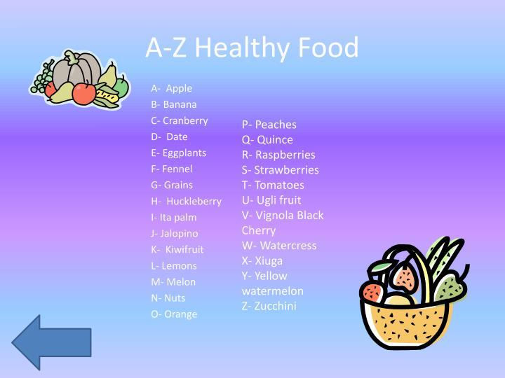 A-Z Healthy Food