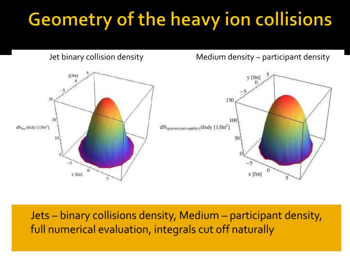Geometry of the heavy ion collisions