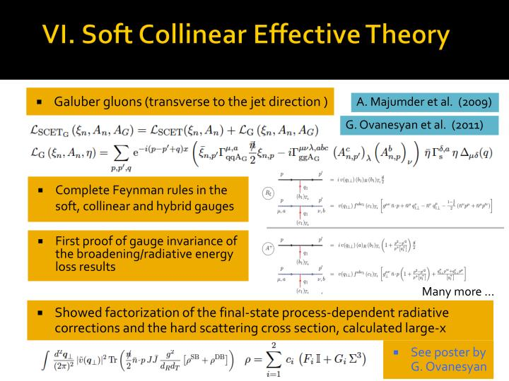 VI. Soft Collinear Effective Theory