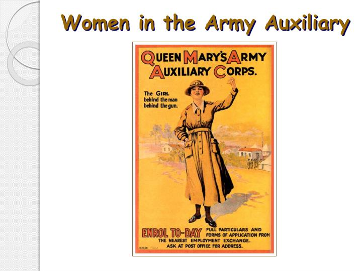 Women in the Army Auxiliary