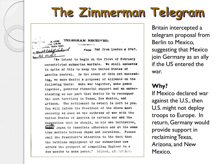 The Zimmerman Telegram