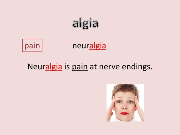 algia