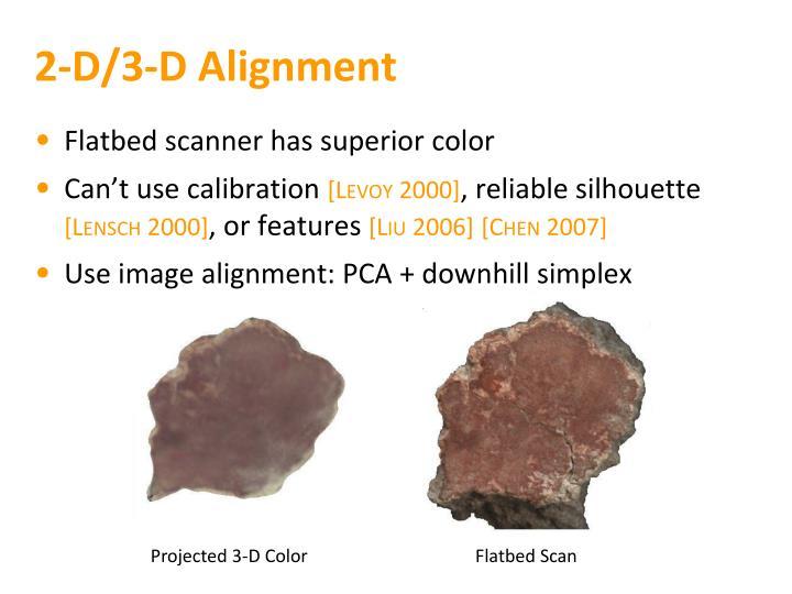 2-D/3-D Alignment