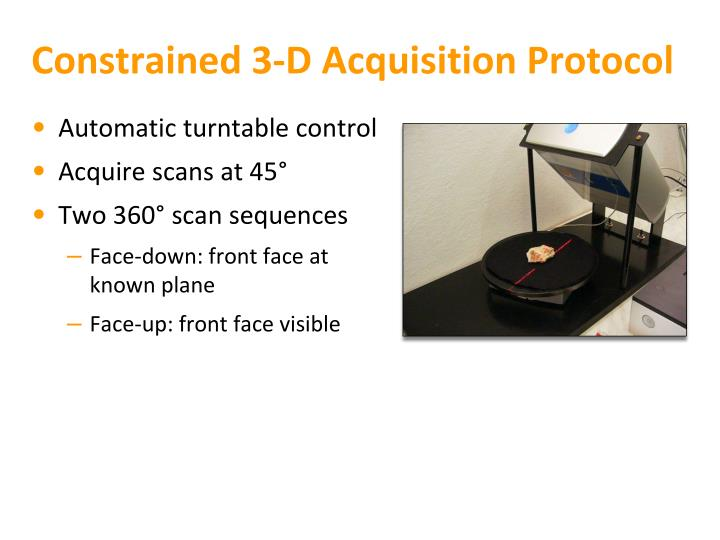 Constrained 3-D Acquisition Protocol