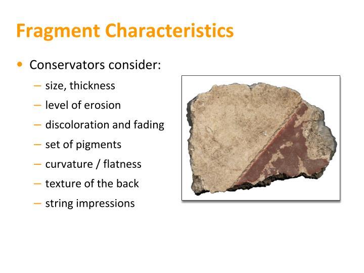 Fragment Characteristics