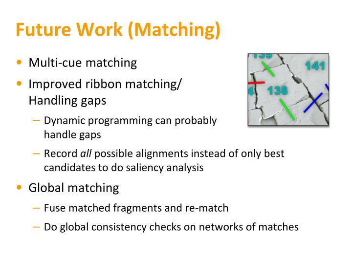 Future Work (Matching)