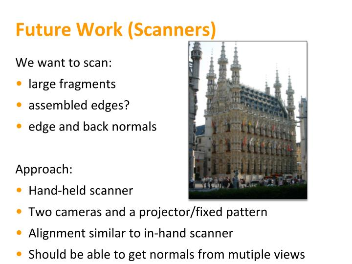 Future Work (Scanners)