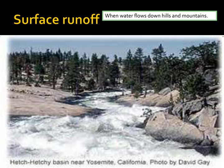 Surface runoff