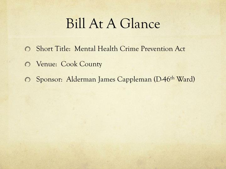 Bill At A Glance