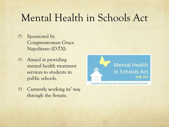 Mental Health in Schools Act