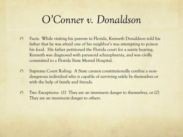O'Conner v. Donaldson