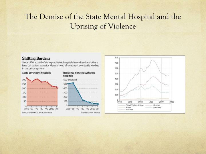The Demise of the State Mental Hospital and the Uprising of Violence