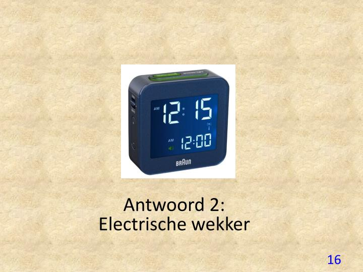 Antwoord 2: